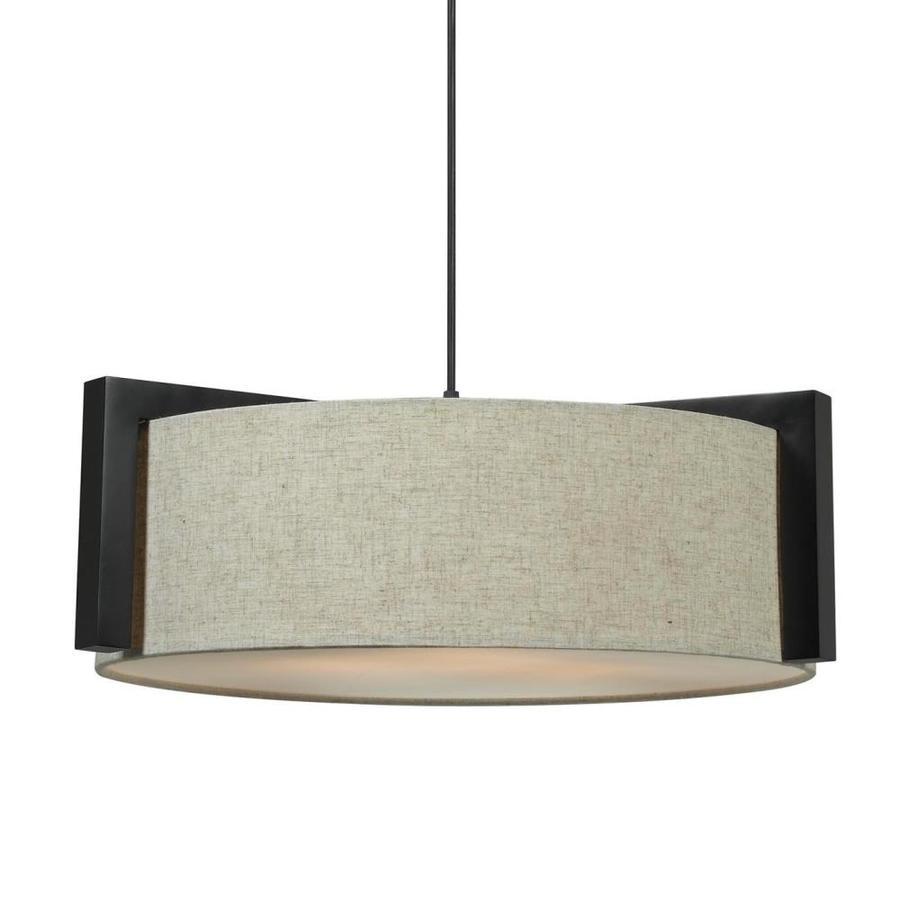 Kenroy Home Lighting Keen Bronze Pendant Light With Drum: Kenroy Home Teton Madera Bronze Multi-Light Transitional