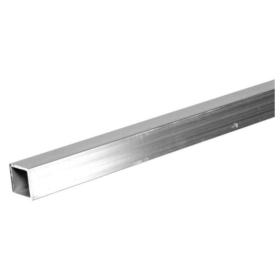Steelworks L x 1-in W x 1-in H Aluminum Plain Square Tube