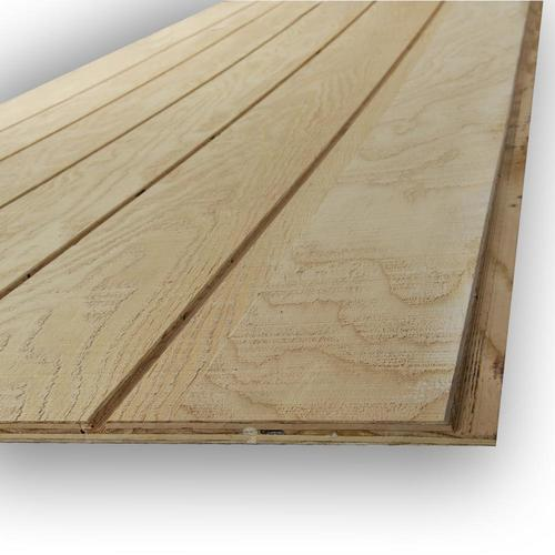 Douglas Fir Siding Natural Wood T1 11 Panel Siding Common 0 594 In X 48 In X 96 In Actual 0 563 In X 47 87 In X 95 87 In In The Wood Siding Panels Department At Lowes Com