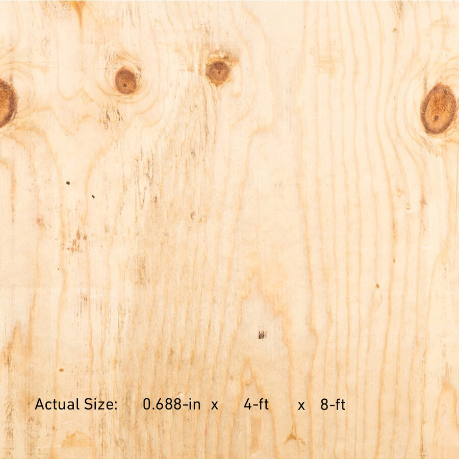 23/32 CAT PS1-09 Douglas Fir Plywood Sheathing, Application as 4 x 8