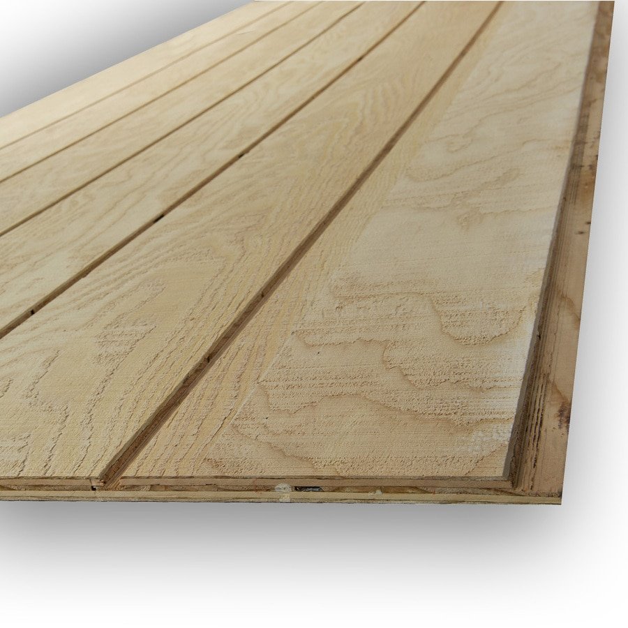 Natural Wood Plywood Untreated Wood Siding Panel (Common: 0.594 In X 48