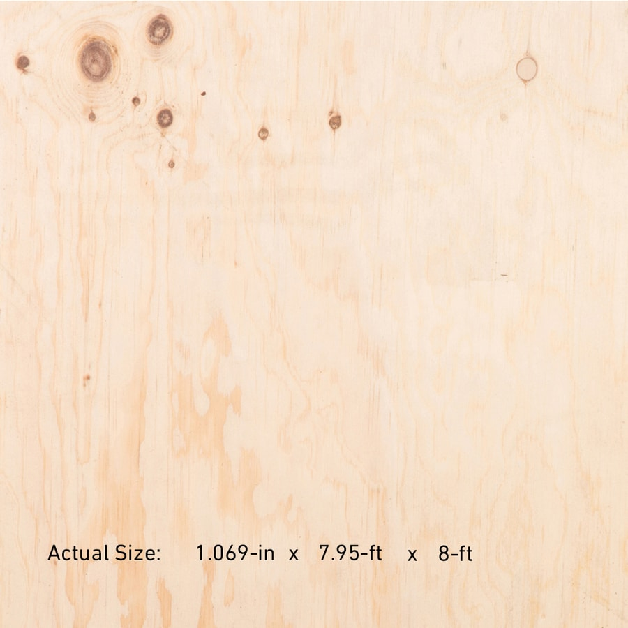 1-1/8 CAT PS1-09 Tongue and Groove Douglas Fir Plywood Underlayment, Application as 4 x 8