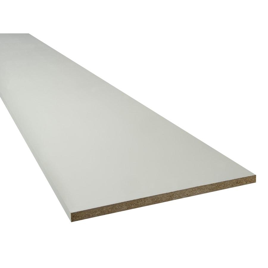 Thermally Fused Laminate 0.75-in D x 97-in L x 15.75-in W White Shelf Board