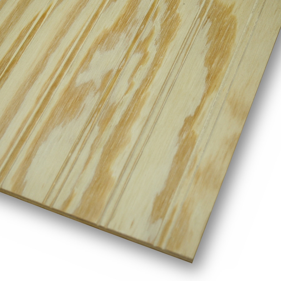 Natural Wood Plywood Panel Siding Common 0 344 In X 48 In X 96 In Actual 0 313 In X 47 87 In X 95 87 In In The Wood Siding Panels Department At Lowes Com
