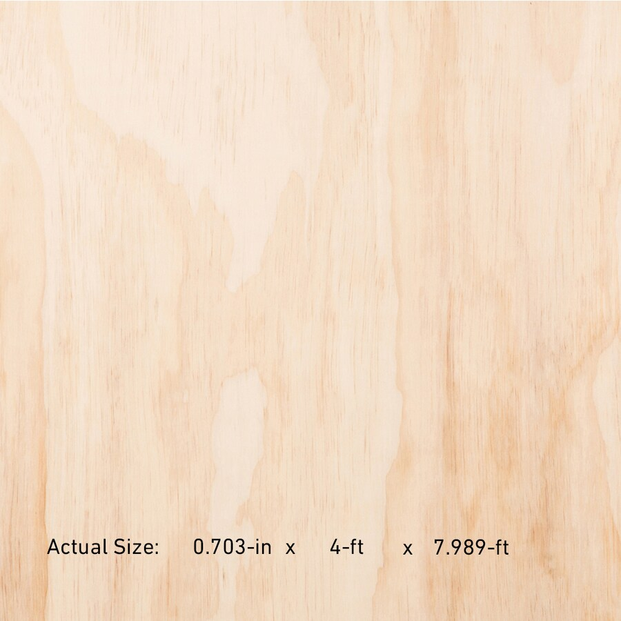 Ac Plus 23/32-in Common Square Radiata Pine Sanded Plywood , Application As 4 x 8
