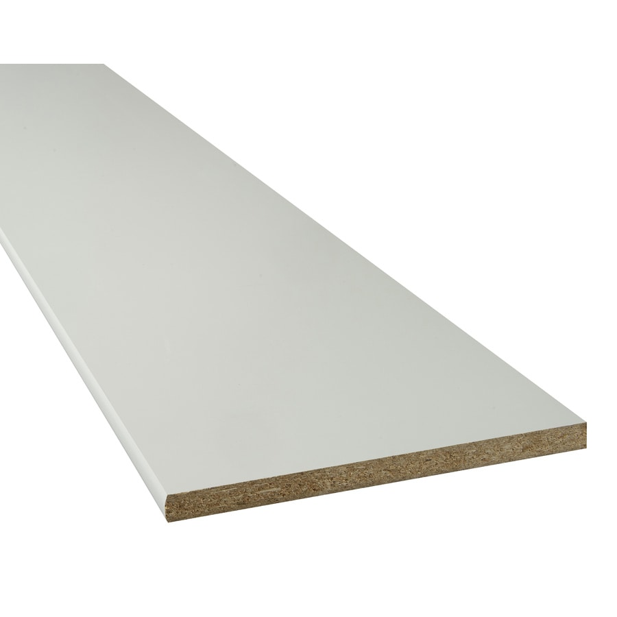 Particle Board 15.25-in W x 73-in L x 0.75-in D White Shelf Board