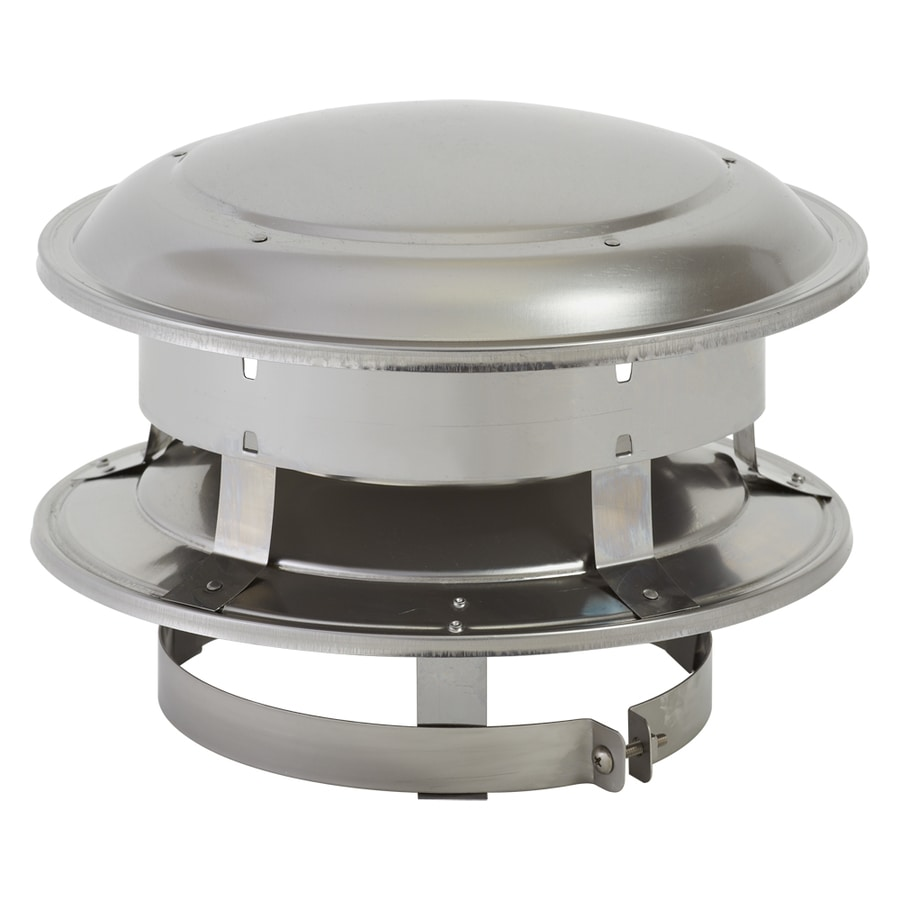 SuperVent 6-in W x 5-in L Stainless Steel Round Chimney Cap - Shop Chimney Caps At Lowes.com