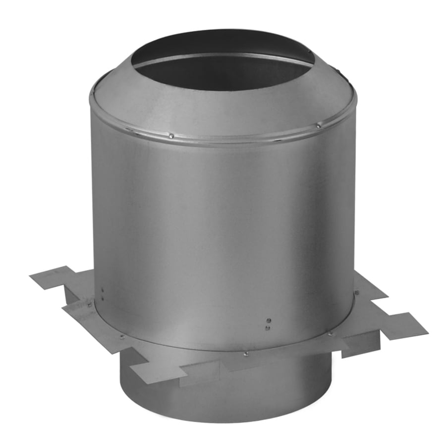 SuperVent 12.375-in L x 6-in Dia Stainless Steel Chimney Attic Insulation Shield