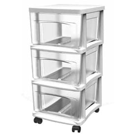 Style Selections 14.5-in x 20.75-in 3-Drawer Clear with White Frame  sc 1 st  Loweu0027s & Shop Storage Drawers u0026 Carts at Lowes.com