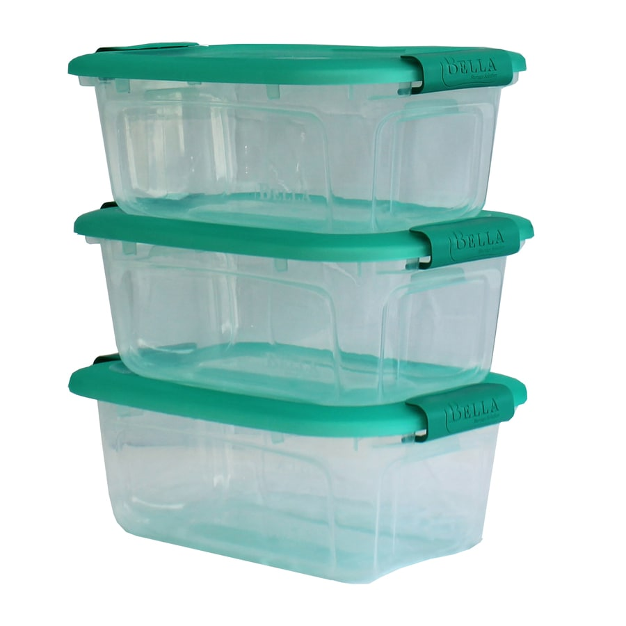 Style Selections 3-Pack Bella Storage Solution 1.25-Gallon Clear Tote with Latching Lid