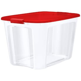 Bella Storage Solution 30-Gallon (121-Quart) Clear Tote with Latching Lid at Lowes - $10.78 in 7% of stores