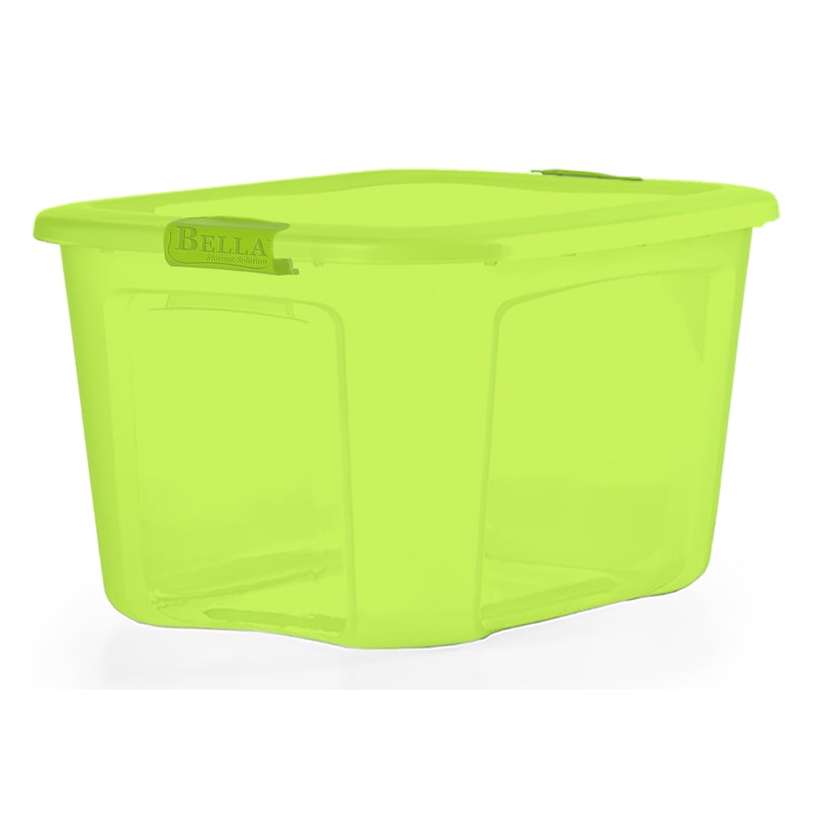 Bella Storage Solution 18-Gallon Green Tote with Latching Lid  sc 1 st  Loweu0027s : green storage containers  - Aquiesqueretaro.Com