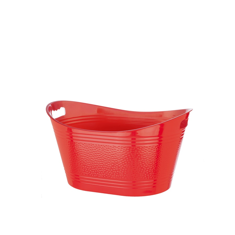 Bella Storage Solution 15.25-in W x 11.5-in H x 21-in D Solid Red Metallic Plastic Tub