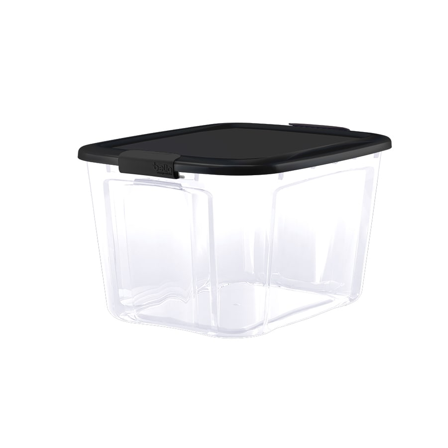 Bella Storage Solution 18 Gallon Clear Tote With Latching Lid