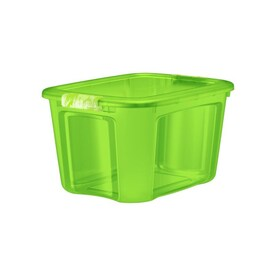 Bella Storage Solution 6-Pack 10-Gallon (40-Quart) Green Tote with Latching Lid