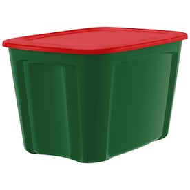 Bella Storage Solution 30-Gallon (120-Quart) Green Tote with Standard Snap Lid
