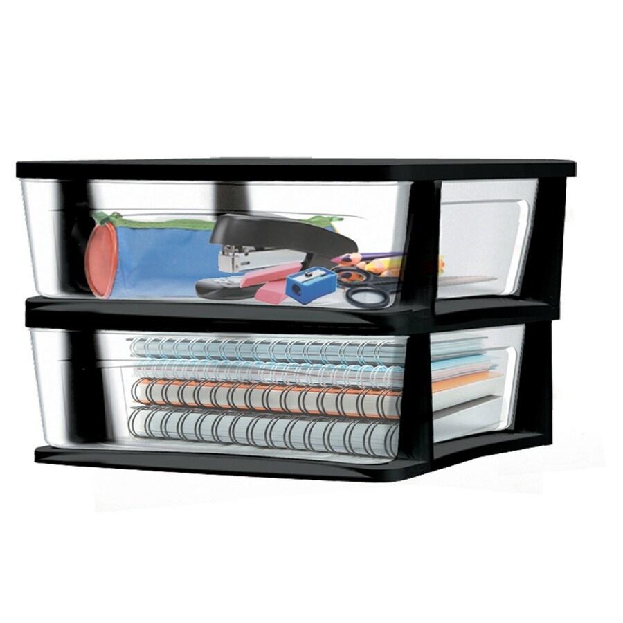 Style Selections 15.125-in x 8.625-in Black Plastic Desktop Drawer