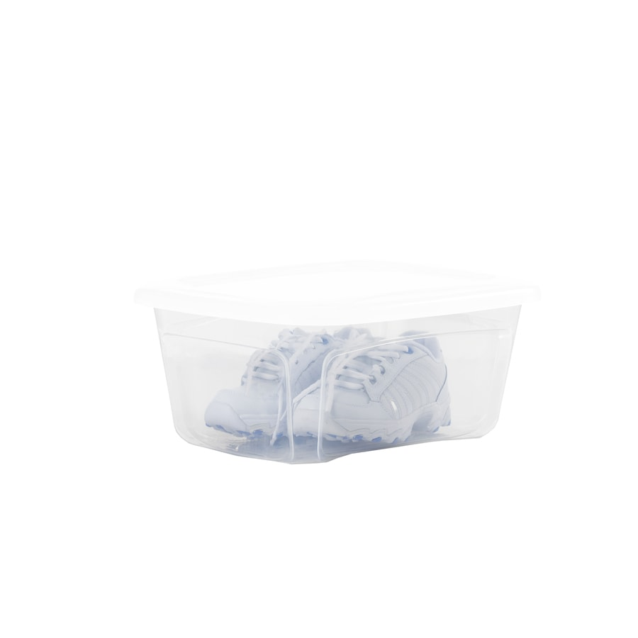 Style Selections Bella 6-Quart Clear Shoe Box with Standard Snap Lid