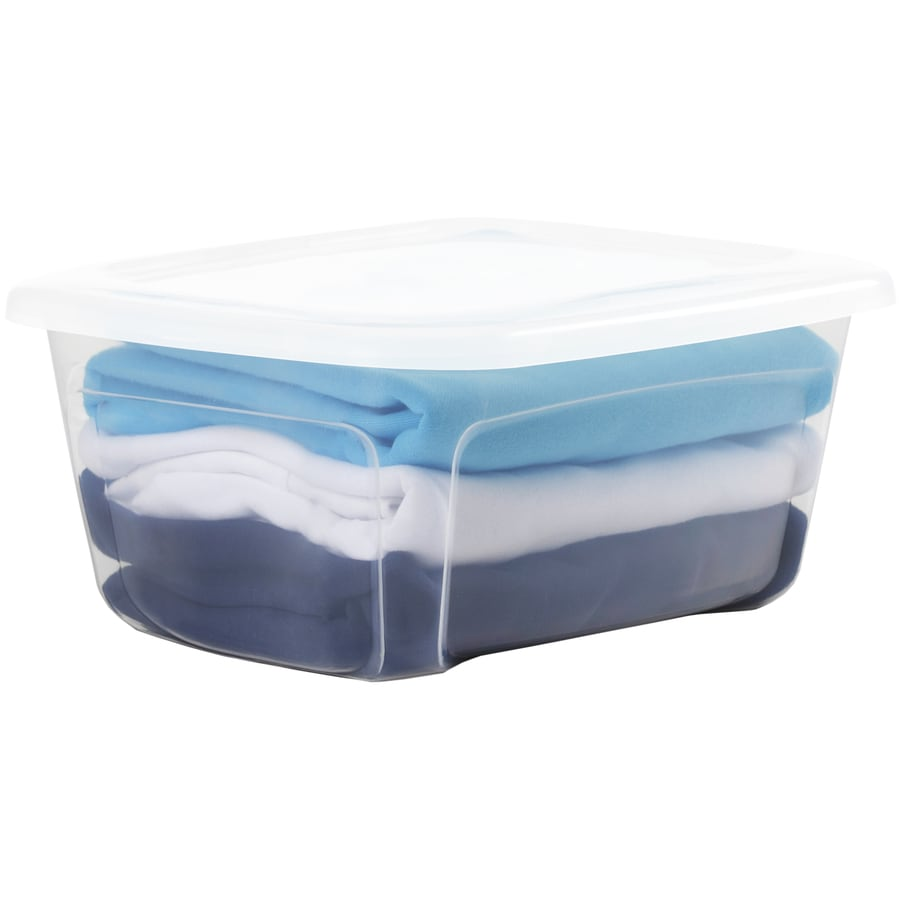 Style Selections Bella 3.5-Gallon Clear Tote with Standard Snap Lid