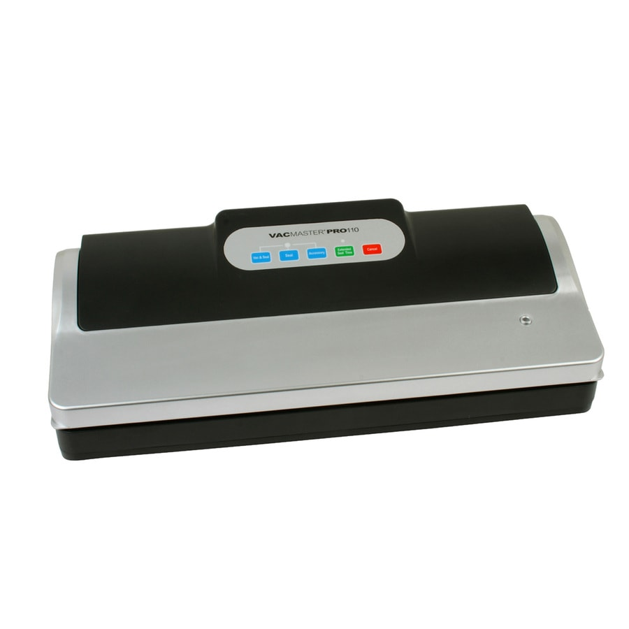 VacMaster 4.5-in H x 15.75-in W x 6.5-in D Stainless Steel/Black Vacuum Sealer