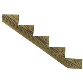 Severe Weather 5 Step Pressure Treated Pine Deck Stair Stringer