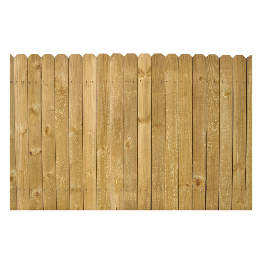4-ft x 8-ft Pine Stockade Wood Fence Panel