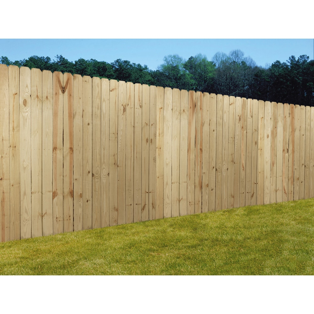 Wood Fencing 6x8 Prime Dog Ear Panel Fence with 5-1/2