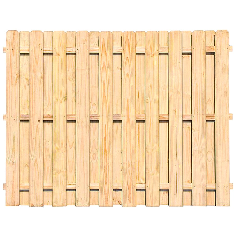 Severe Weather Max (Actual: 6-ft x 8-ft) Pressure Treated Pine Privacy Fence Panel