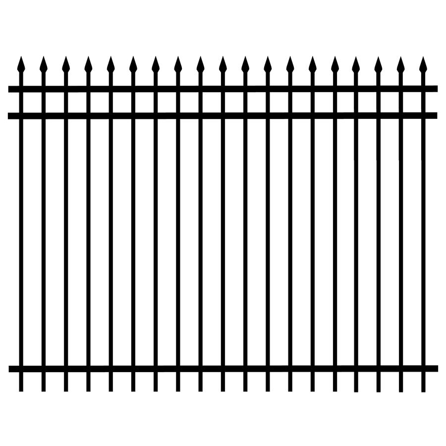 Shop 72 in x 96 in black galvanized steel fence panel at lowes 72 in x 96 in black galvanized steel fence panel baanklon Choice Image