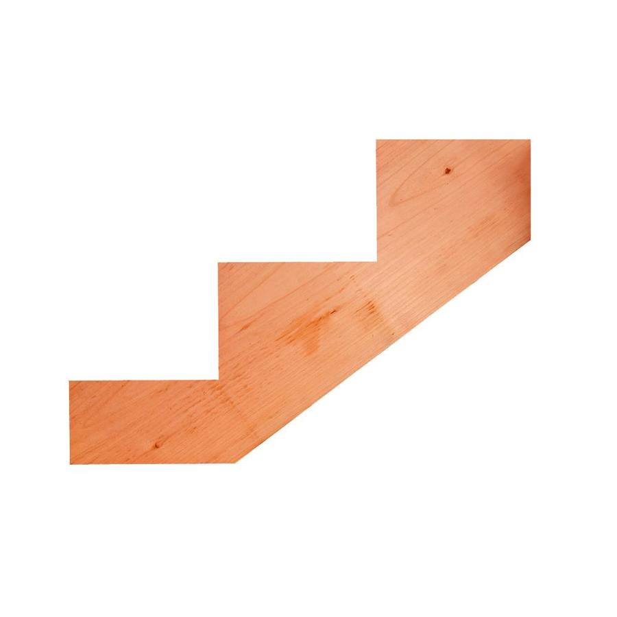 Top Choice 3-Step Redwood Deck Stair Stringer