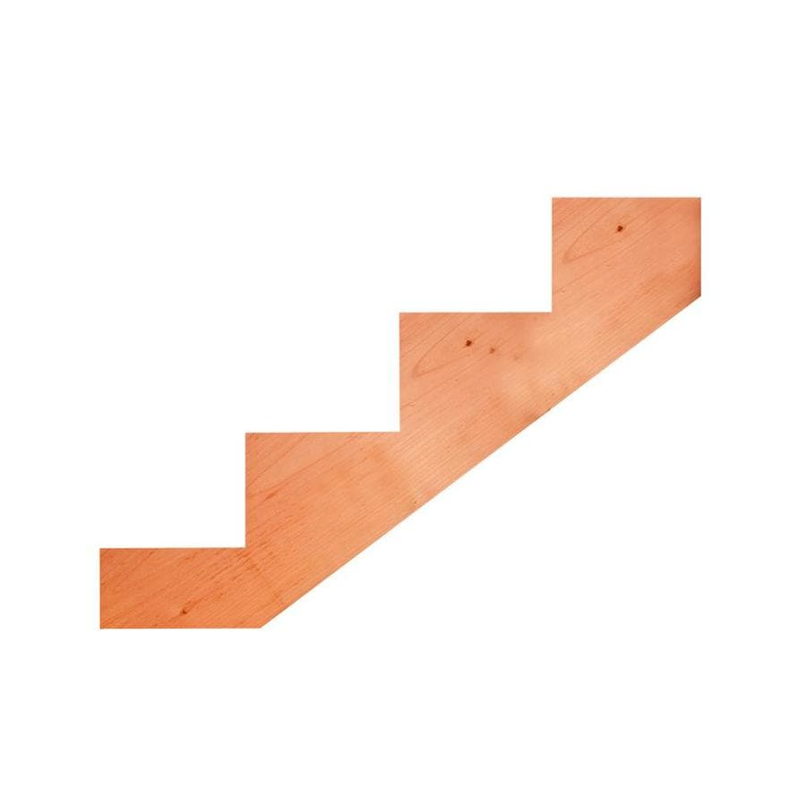 Top Choice 4-Step Redwood Deck Stair Stringer