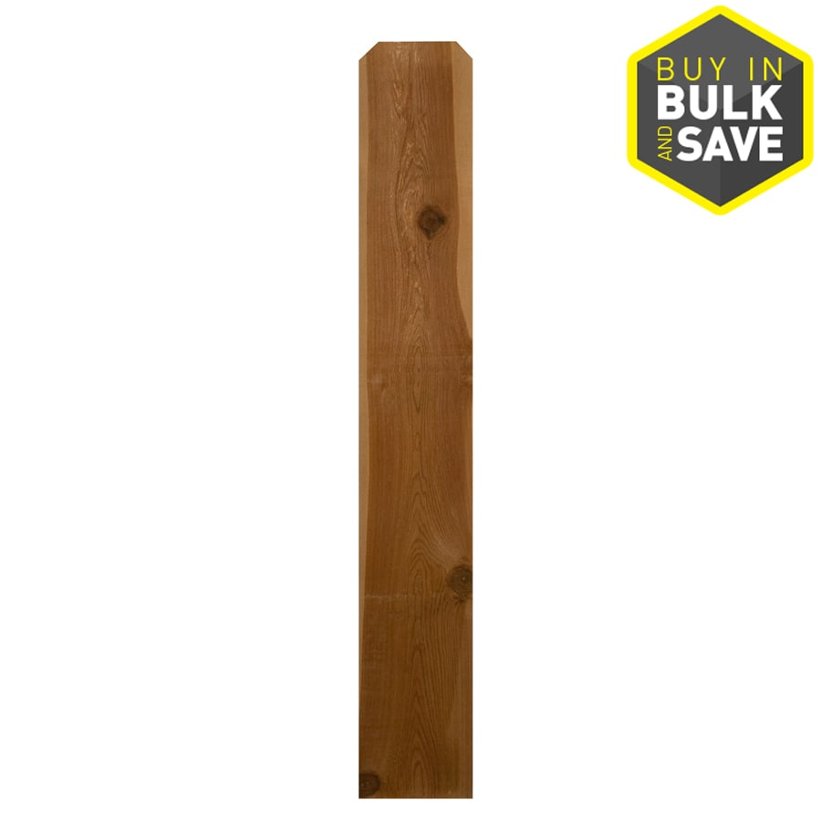 Severe Weather Cedar Fence Picket (Common: 1-in x 12-in x 6-ft; Actual: 0.625-in x 11.5-in x 6-ft)