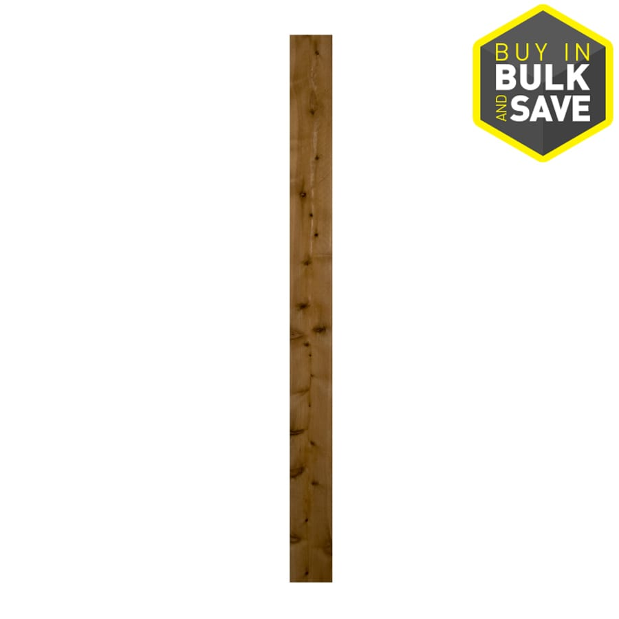 Severe Weather (Common: 1-in x 6-in x 6-ft; Actual: 0.625-in x 5.5-in x 6-ft) Cedar Fence Picket