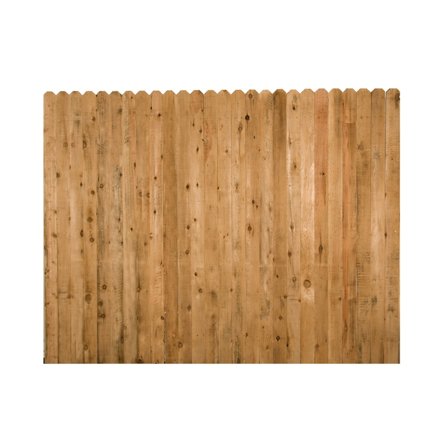 Wood Fencing 6' x 8' Rustic Dog Ear Fence Panel