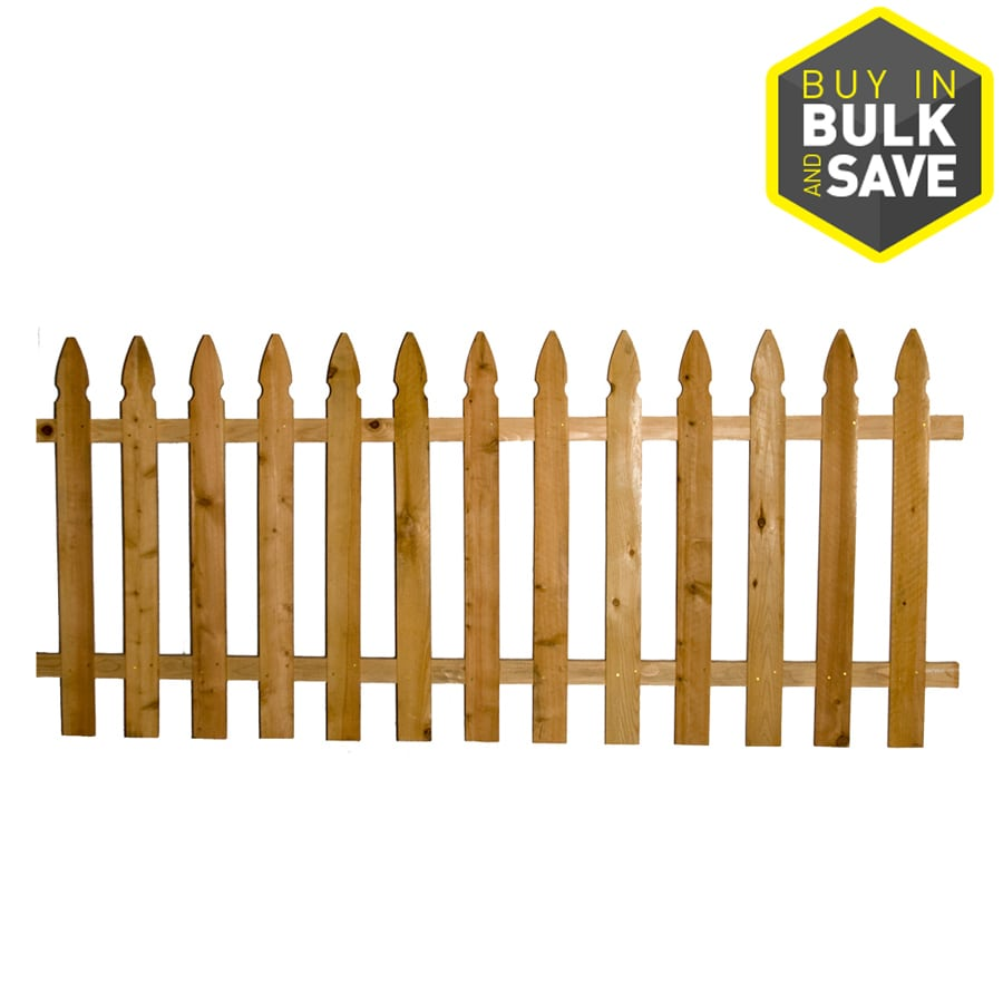 Severe Weather (Common: 1-in x 4-in x 4-ft; Actual: 0.625-in x 3.5-in x 3.5-ft) Cedar Fence Picket