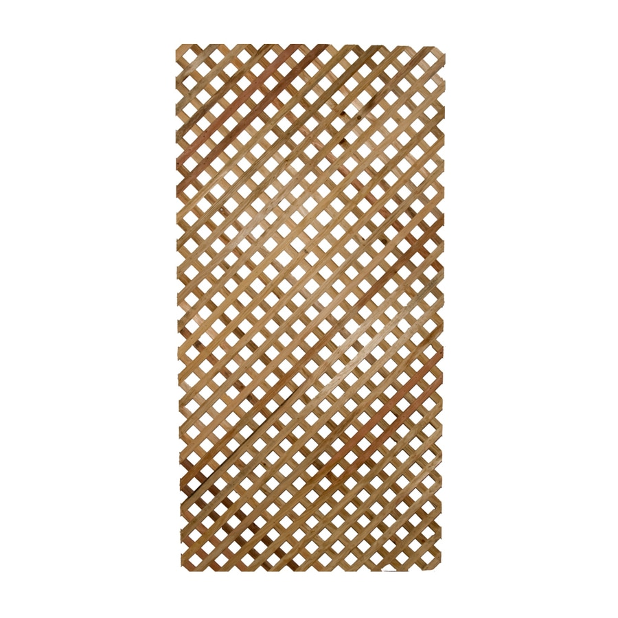 "1/4"" x 4' x 8' Privacy Select Redwood Lattice"