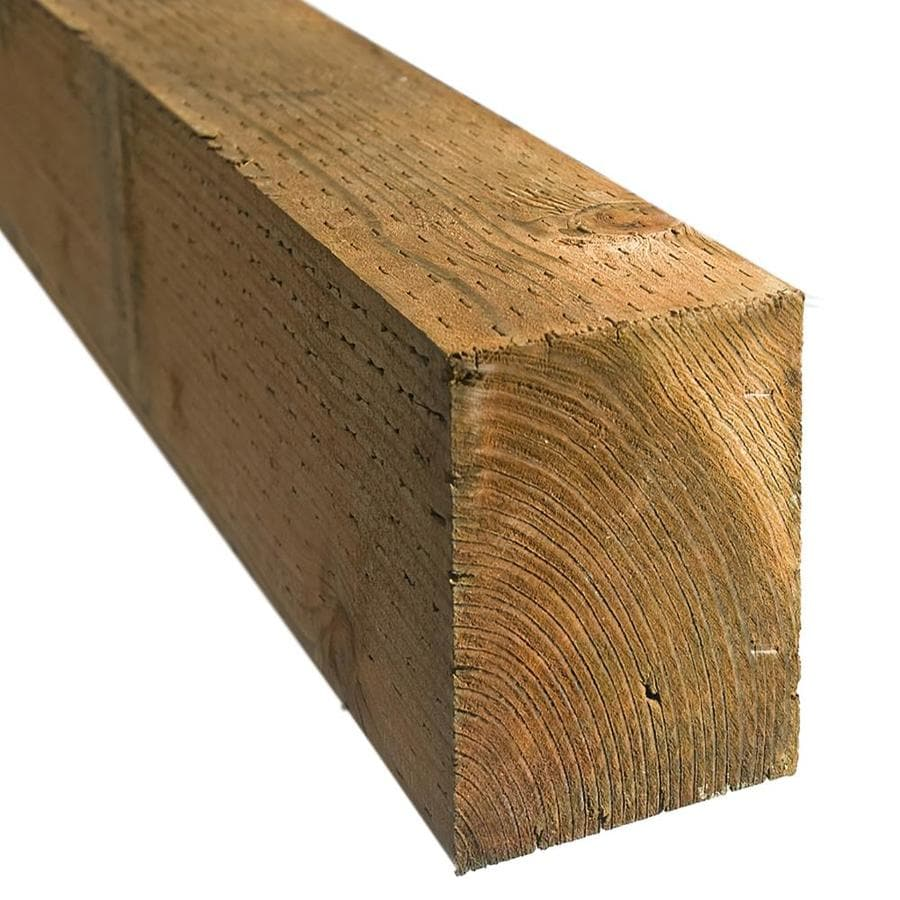 Severe Weather (Common: 4-in x 6-in x 12-ft; Actual: 3.562-in x 5.625-in x 12-ft) Stained Pressure Treated Lumber