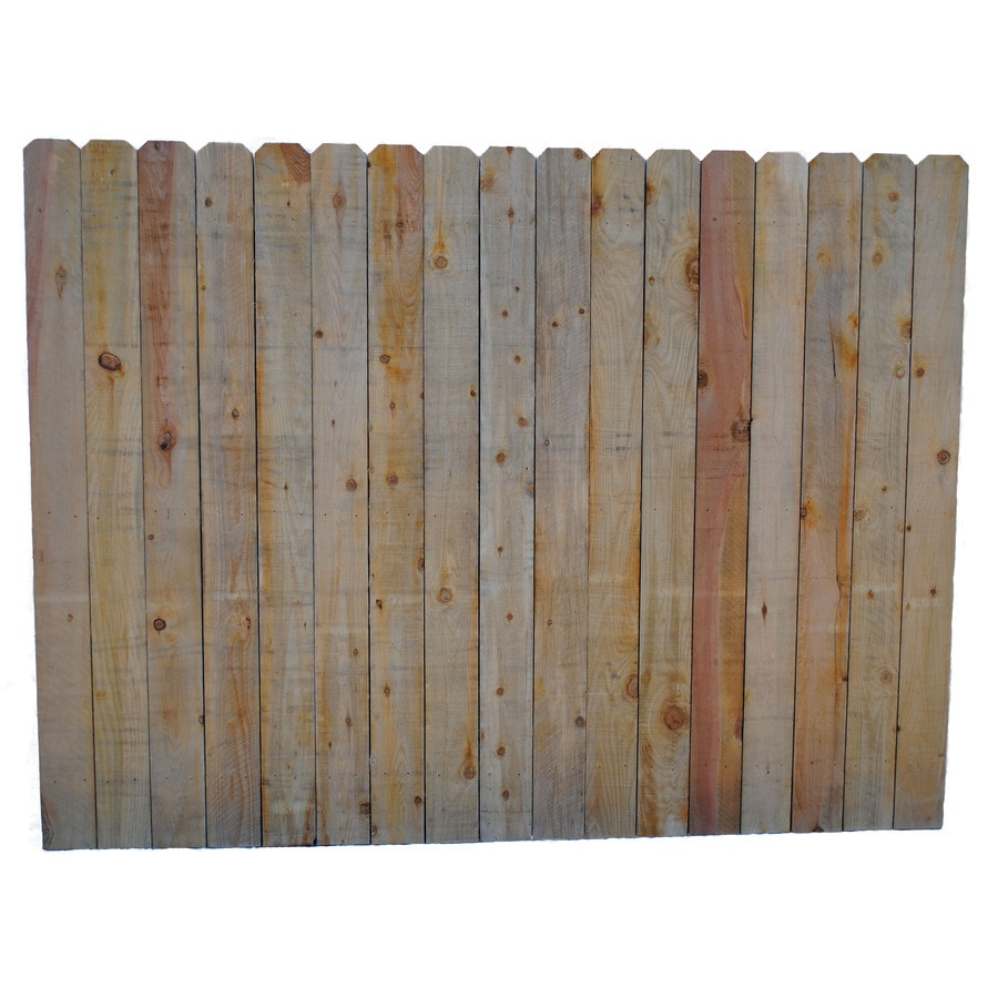 (Actual: 6-ft x 8-ft) Brown Cedar Privacy Fence Panel