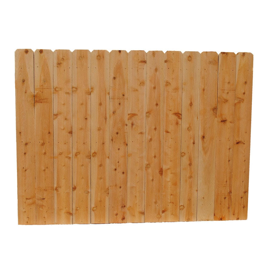 (Common: 6-ft x 8-ft; Actual: 6-ft x 8-ft) Brown Cedar Privacy Fence Panel