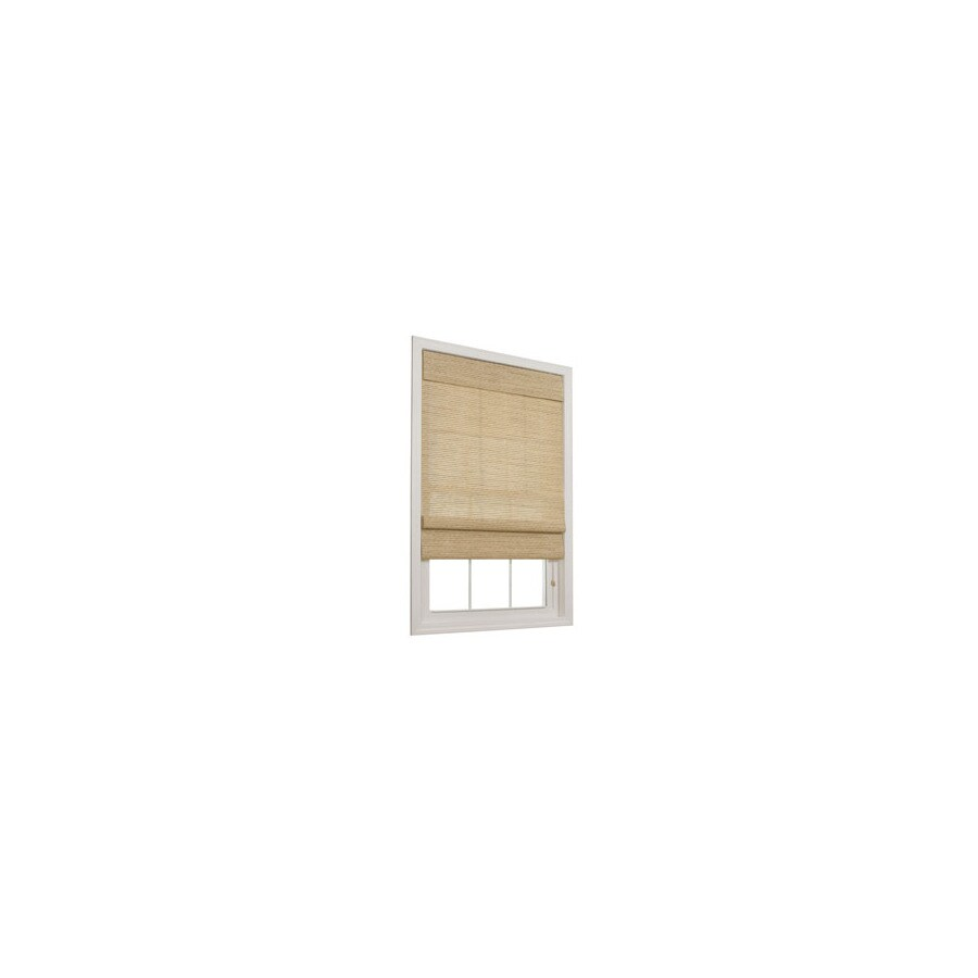 allen + roth Honey Light Filtering Paper Fabric Roman Shade (Common 23-in; Actual: 22.5-in x 72-in)