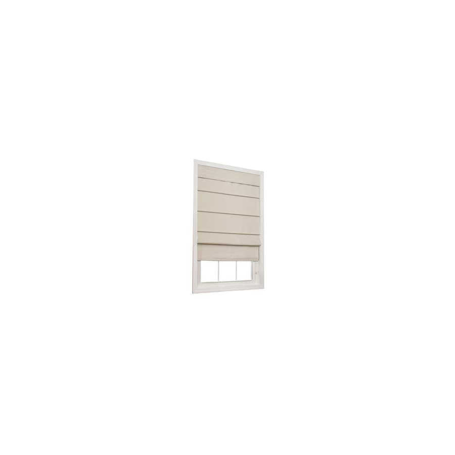 allen + roth Ecru Room Darkening Polycotton Fabric Roman Shade (Common 31-in; Actual: 30.5-in x 72-in)