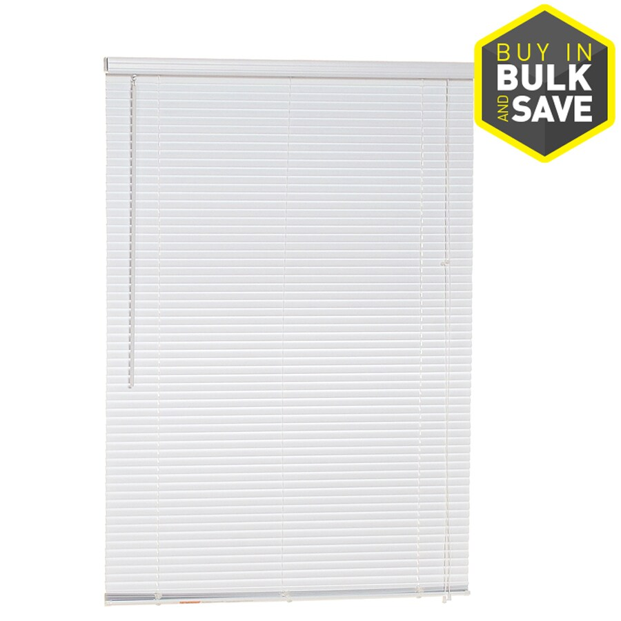 project source 1in white vinyl light filtering miniblinds common 33