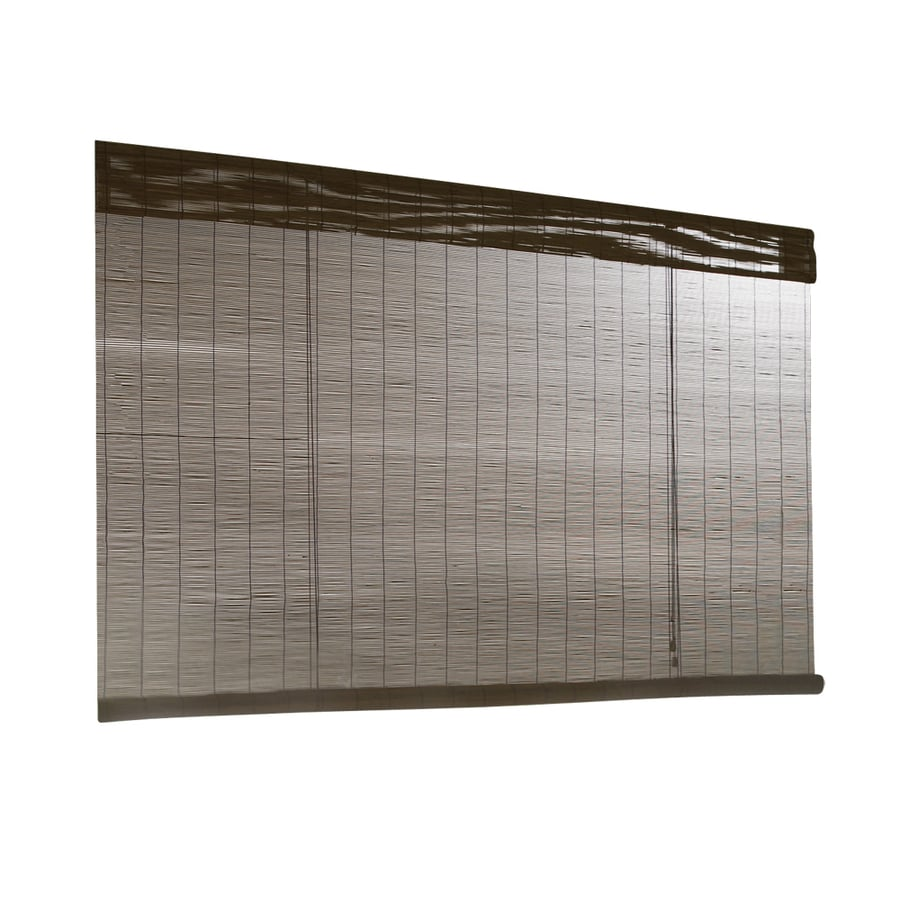 Shop style selections fruitwood light filtering bamboo for Stylish window shades
