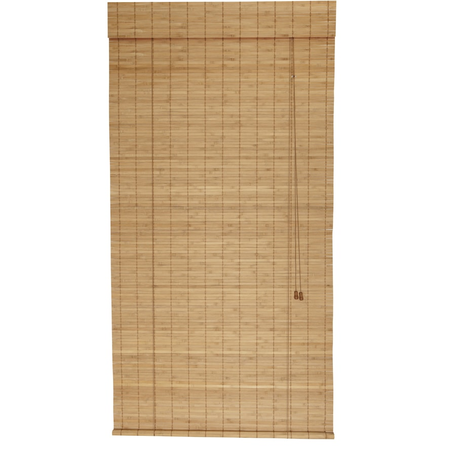 Style Selections Spice Light Filtering Bamboo Roller Shade (Common: 72-in; Actual: 72-in x 72-in)