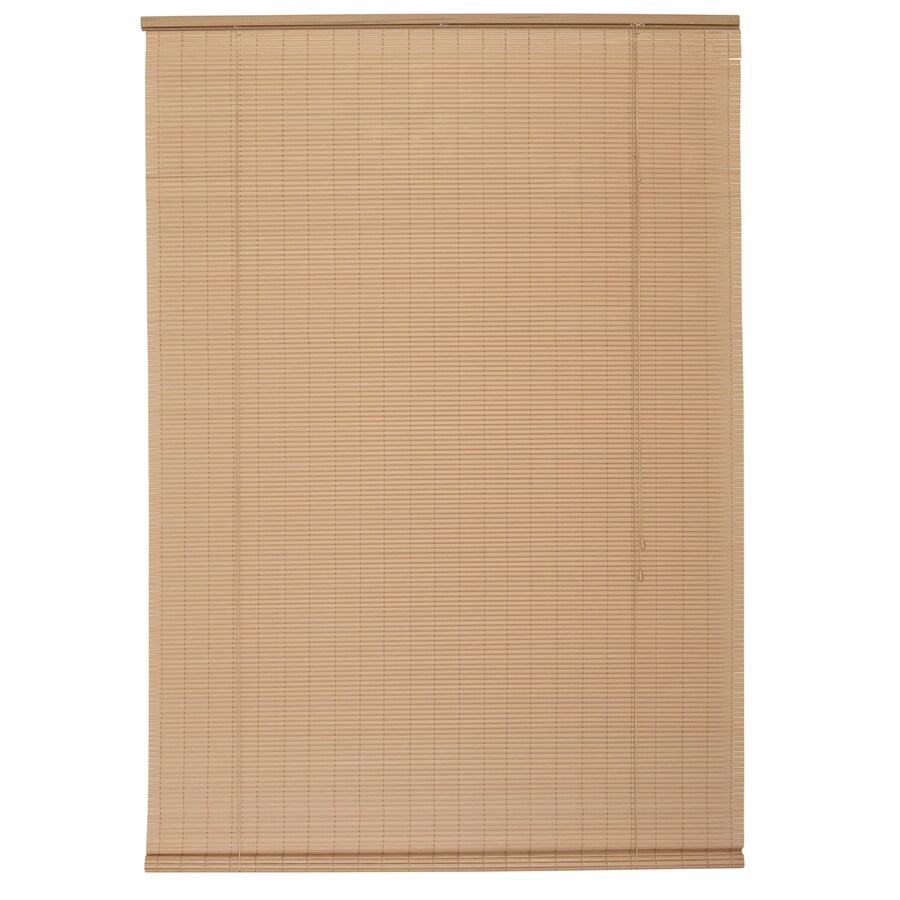 Style Selections Woodgrain Light Filtering Pvc Roll-Up Shade (Common 72-in; Actual: 72-in x 72-in)