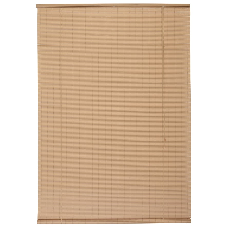Style Selections Woodgrain Light Filtering Pvc Roll-Up Shade (Common 96-in; Actual: 96-in x 96-in)