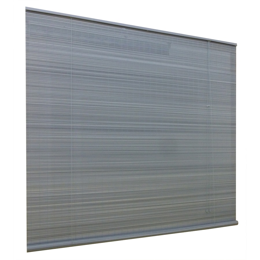 Style Selections Gray Light Filtering Pvc Roller Shade (Common: 96-in; Actual: 96-in x 72-in)