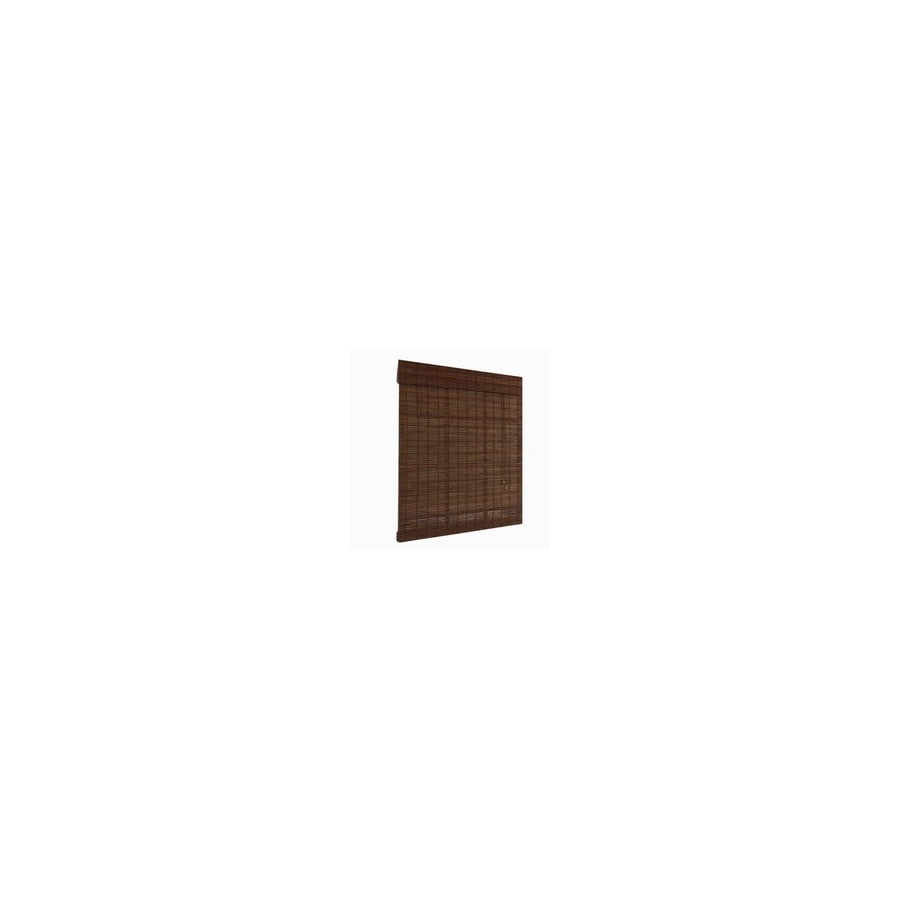 Style Selections Cocoa Light Filtering Bamboo Roll-Up Shade (Common 72-in; Actual: 72-in x 72-in)