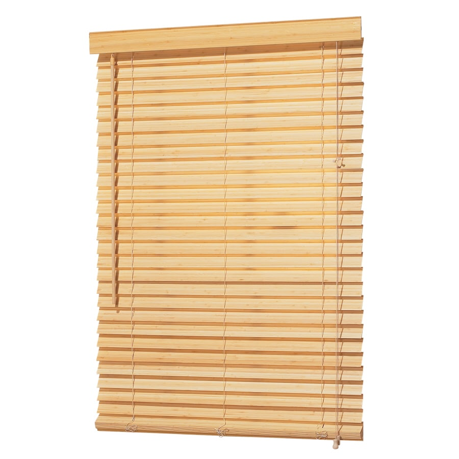 allen + roth 2-in Natural Bamboo Light Filtering Horizontal Blinds (Common 26-in; Actual: 25.5-in x 64-in)