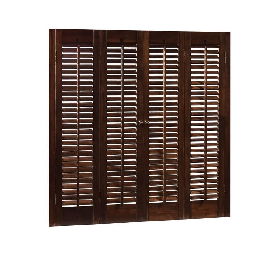 Mahogany Wood Interior Shutter At Lowes
